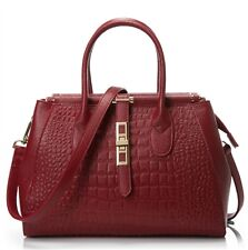 Uchexclusive Red Genuine Leather Handbag
