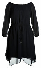 City Chic Black off the shoulder long sleeve soft divine dress size XS 14 NEW