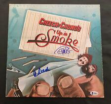 CHEECH AND CHONG UP IN SMOKE ALBUM VINYL LP AUTOGRAPH BECKETT BAS COA 1