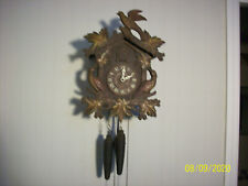 Full Size Lux Cuckoo  Clock in great shape for parts or restoration / Complete
