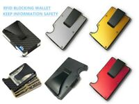 RFID Blocking Carbon Wallet Fiber Minimalist Money card Clip Blocking Anti Scan