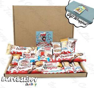 Personalised KINDER Chocolate Bueno Hamper Sweet Gift Box Present Birthday Xmas