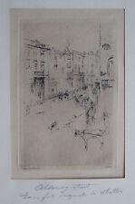 WHISTLER, James Original Etching 1881 Alderney Street