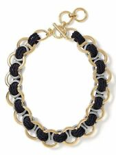 Banana Republic Double Link Navy Blue Rope Toggle Necklace  NWT $79.99