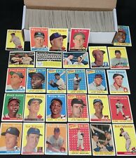 1959 TOPPS COMPLETE 494 CARD SET MICKEY MANTLE ROGER MARIS WILLIAMS CLEMENTE !!