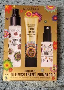 Smashbox Holidaze Photo Finish Travel Primer Trio Water/Primer/Primerizer BOXED