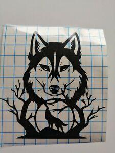 Wolf within a wolf abstract Vinyl Car, Van Window Bumper Sticker Art Decal
