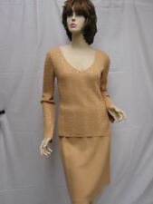 St John EVENING Beige Piallettes NWOT Top Skirt Suit  6
