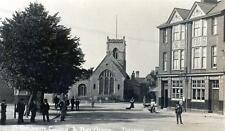 Thetford St Cuthberts Church Post Office sepia unused RP old postcard