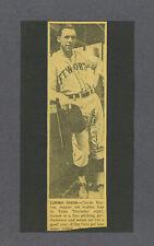 Claude Horton signed vintage minor league baseball photo