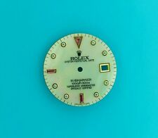 ROLEX  DIAL WITH CUSTOM MADE MOTHER OF PEARL, DIAMOND & RUBY FOR SUBMARINER