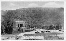 Tionesta Pennsylvania Control Tower Service Bridge Antique Postcard K57862