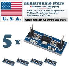 5pcs AMS1117-3.3 3.3V Step-Down Linear Voltage Regulator Module 6-12V in 3.3V