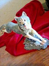 Resin Running Wolf Figurine