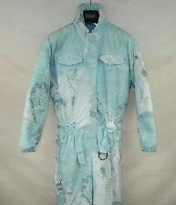 VINTAGE WOMENS PADDED SKI SUIT ONE PIECE EU-42 ALL IN ONE SNOW SUIT