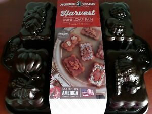 NORDIC WARE HARVEST MINI LOAF CAKE PAN, NEW, NICE