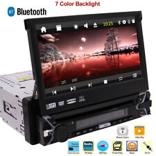 Stereo Single Din Car Radio DVD Player GPS 7 inch Touchscreen Bluetooth In Dash