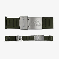 CASIO PRO TREK PRT MEN SPORT WATCH RUBBER BAND Khaki PROTREK  STRAP 20mm