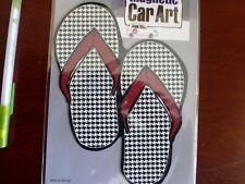 Mad Mags Car Magnet HOUNDSTOOTH FLIP FLOPS flip-flop Alabama Colors Mother's Day