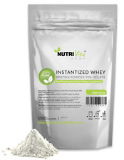2X 10LB (20LB) 100% Pure Organic Instantized Whey Protein Isolate 90% Unflavored