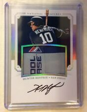 HUNTER RENFROE 5/5 Auto On Card LAUNDRY TAG RC 2017 National Treasures PADRES