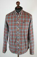 Fred Perry mens tartan casual cotton shirt Size M