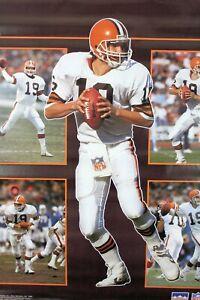 Vintage 1989 BERNIE KOSAR 34 x 22 Cleveland Browns NFL Starline Collage Poster