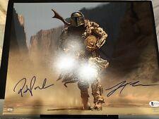 PEDRO PASCAL 11x14 Signed Autograph The Mandalorian  BAS Lateef Crowder DUAL