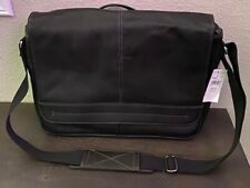 WILSONS LEATHER ANDREW MARC LEATHER LAPTOP MESSENGER BAG BLACK NEW NWT $180.00