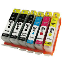 6x Ink Cartridges for HP 564 XL Photosmart 6510 6520 6525 7510 7515 7520 7525