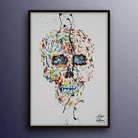 "The Day of Dead, 40"" original oil painting on canvas, skull painting, handmade"