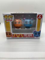 FUNKO POP! AD ICONS: McDonald's - 2PK Fry Guy (Orange/Blue) MINT W/Protector