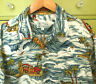 Toes on the Nose Mens Hawaiian Shirt XL Made in Hawaii Woody Surf Waves Palms