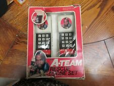 The A - Team rescue phone set 1980's vintage transmitters in box Toy
