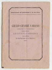 LL738-CAMERINO-GIULIO CESARE VARANO DIFESO CONTRO LA CIVILITA' CATTOLICA
