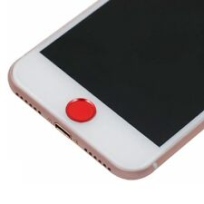 Apple iPhone 6 6s plus 5s se Alu Metall Home Button Aufkleber Touch Ident ID rot
