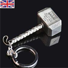 Marvel The Avengers Thor Thor's Hammer Mjolnir Pewter Metal Keyring Key Chain SK