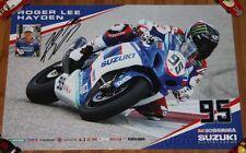2015 Roger Lee Hayden signed Yoshimura Suzuki GSX-R1000 Superbike MA poster
