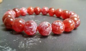 Red Fire Agate Bracelet 9mm