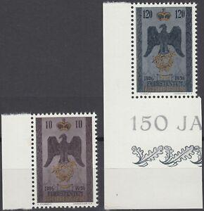 Liechtenstein 150 Jahre Jubiläum Mi.Nr. 346-47 postfrisch Mi.Wert 20 € (6329)