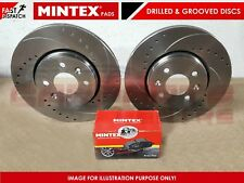 FOR IMPREZA WRX STi 2.0 FRONT 326mm DRILLED GROOVED VENTED BRAKE DISCS PADS