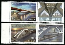 1263 SERBIA 2018 - Europa - Bridges - MNH Set + Label