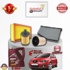 Kit Inspección Filtros + Aceite Seat Altea 1.9 Tdi 77KW 105CV De 2008- >