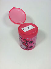 Pink Color Hello Kitty 2-hole pencil sharpner cylinder shape by Sanrio