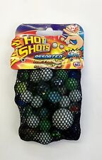 GLASS MARBLES 50+3 VARIOUS COLOURS VINTAGE PLAYGROUND SCHOOL GAME