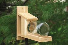New listing Cedar Squirrel Jar Feeder - Made in the Usa!