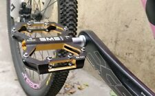 Road XC AM MTB Mountain Bike Bicycle Pedal 3 Bearings Flat Pedals Black Gold