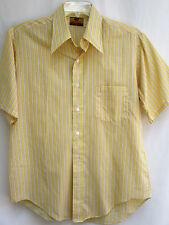 Vtg 70's.Disco.Long Lapels.Striped.Cotton Poly.Shirt.sz Large
