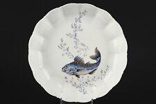A. GIRAUD LIMOGES France, decoro pesce, minestre piatto no1