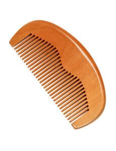 Antistatic Wooden Beard Comb Coarse Teeth Moustache & Beard Grooming UK